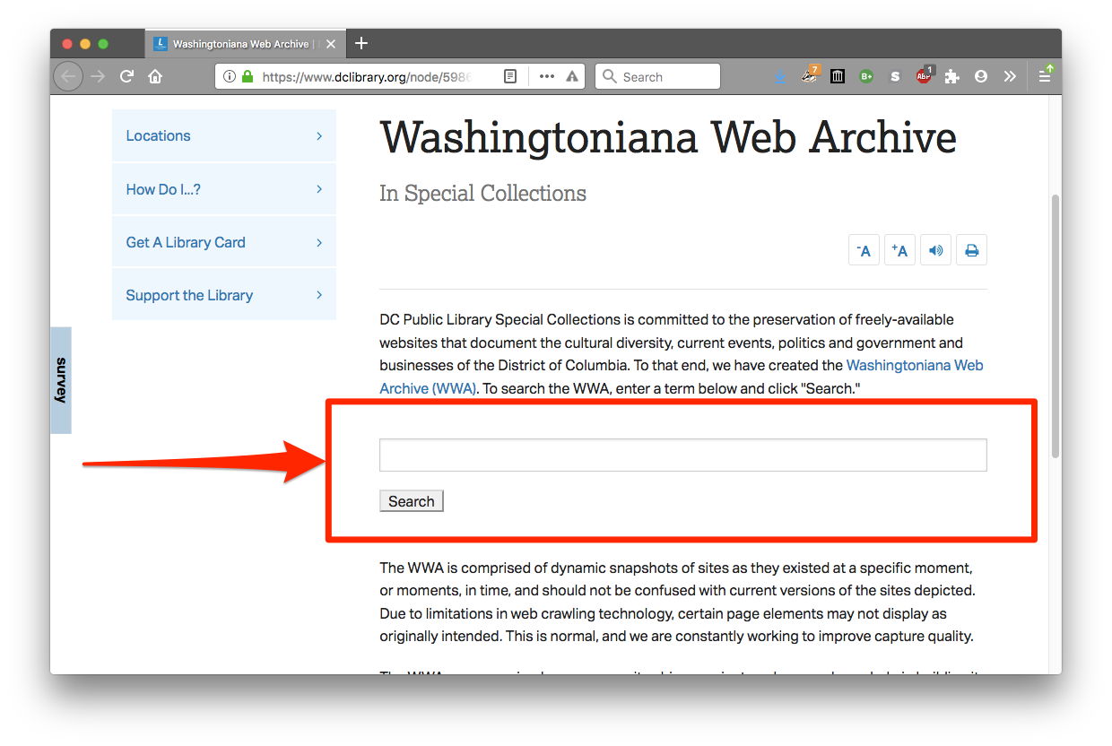 washingtoniana-web-archive-search-form.png