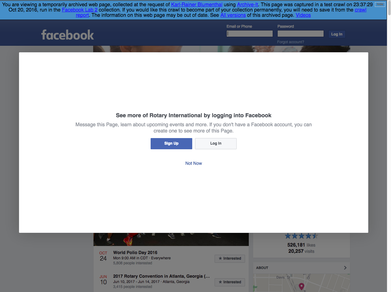 Archiving Facebook – Archive-It Help Center